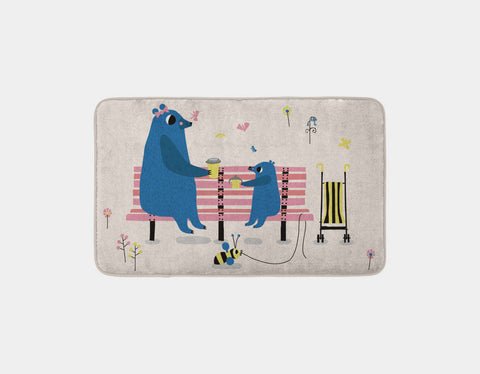 Happy Play Snack Time with Mummy Bath Mat by Sue Downing - Main