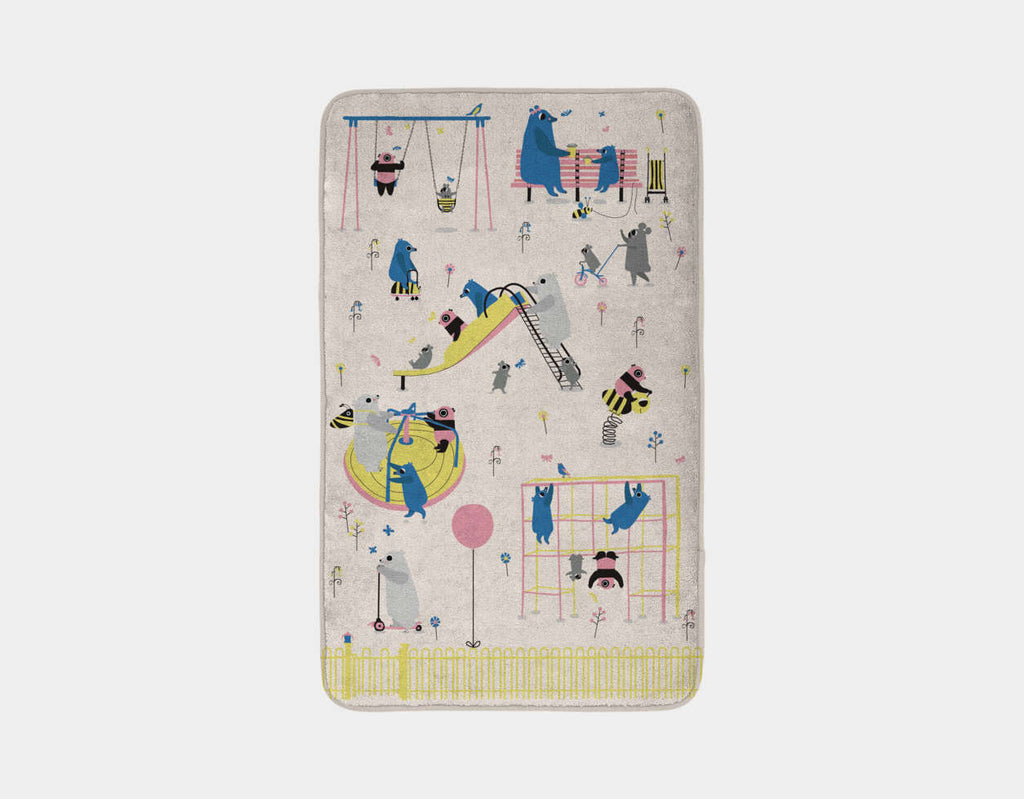 Happy Play Playground Bath Mat by Sue Downing - Main