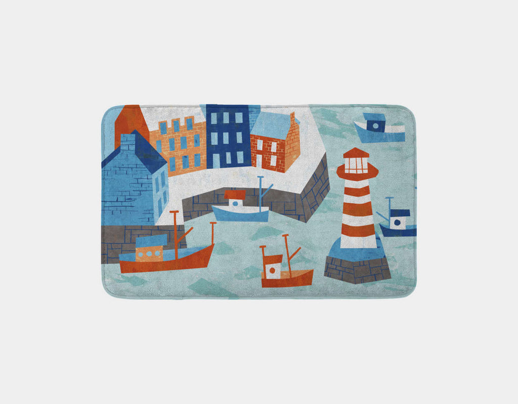Village Cove Bath Mat by Kyle Reed - Main