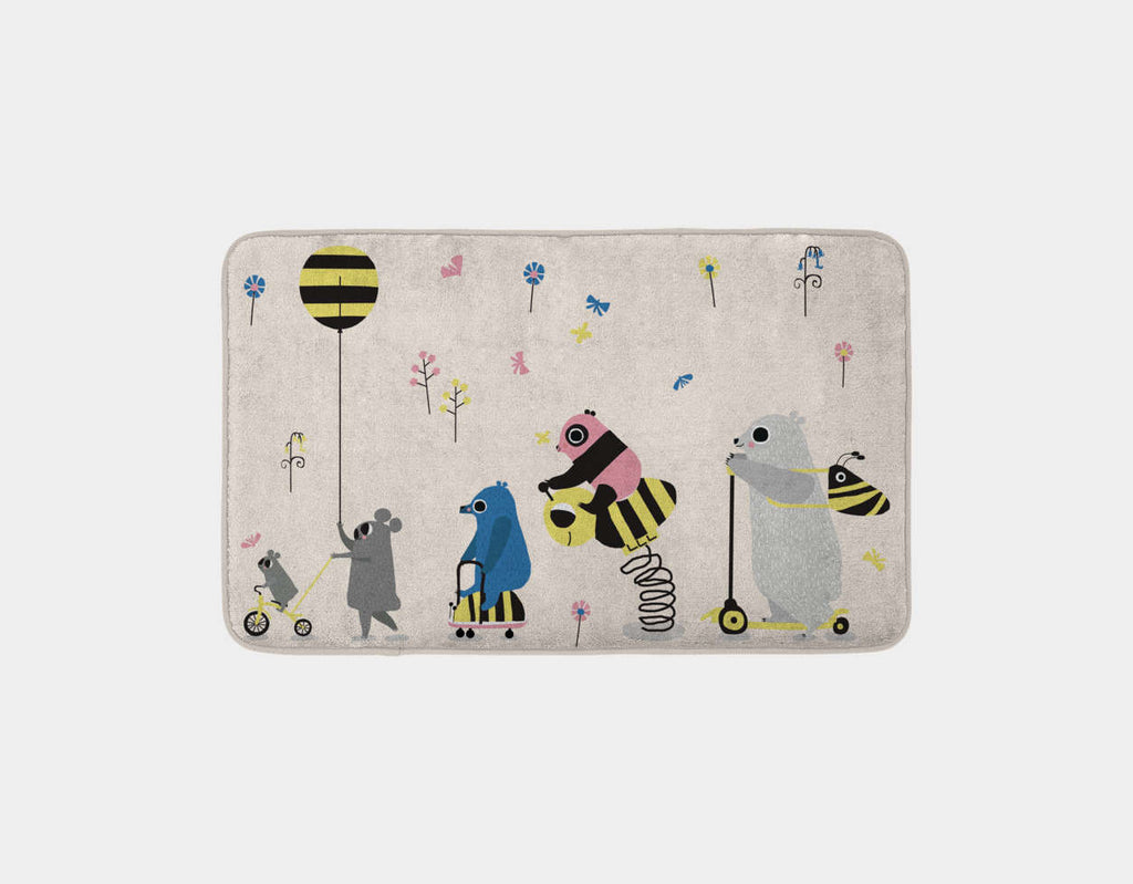 Happy Play Parade Bath Mat by Sue Downing - Main