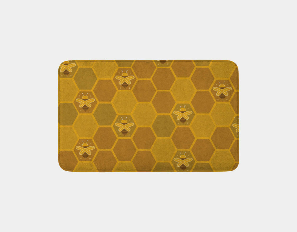 The Beehive Bath Mat by Erin McLaughlin - Main