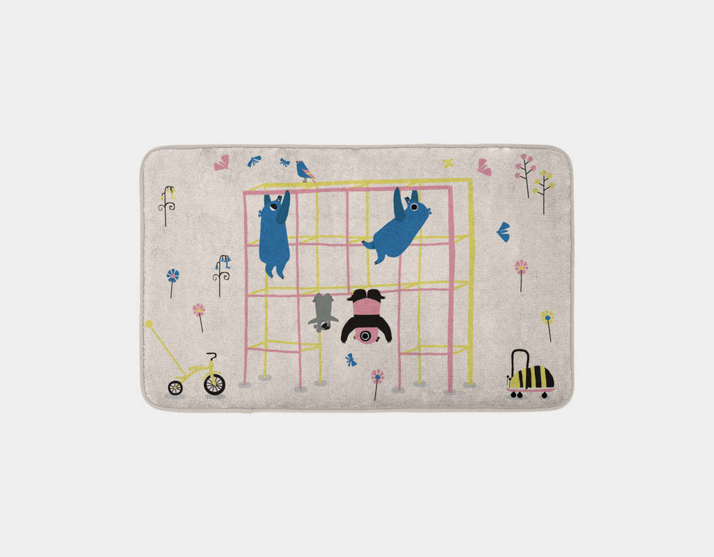 Happy Play Monkey Bars Bath Mat by Sue Downing - Main