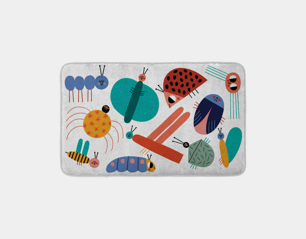 Little Bugs World Bath Mat by Teresa Bellon - Main