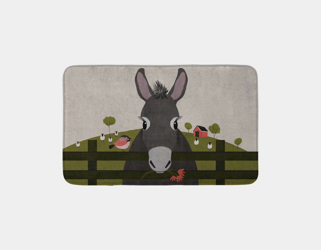 Dolores the Donkey Bath Mat by Mel Armstrong - Main