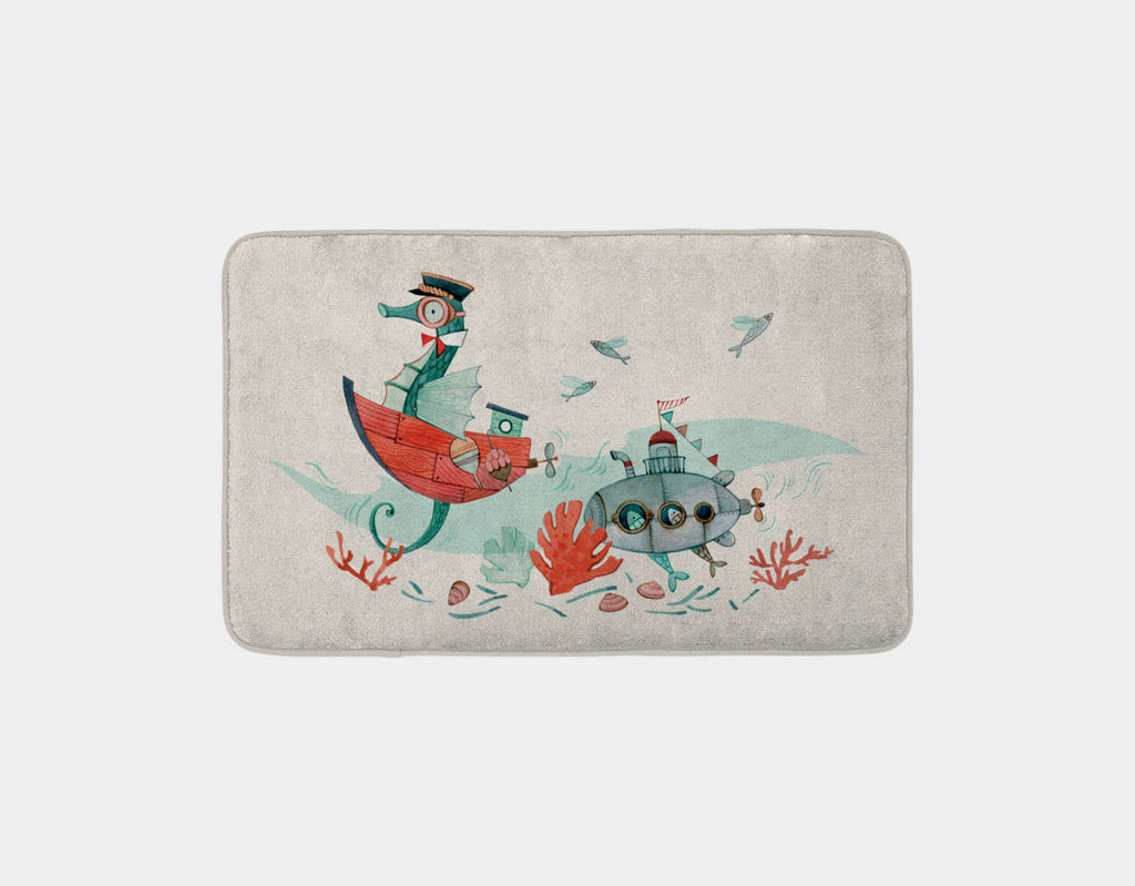 Underwater Companions Bath Mat by Elodie Coudray - Main