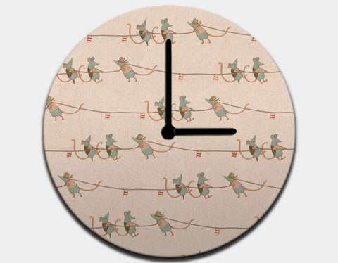 Heave Ho! Clock by Alexandra Ball - Black / Black