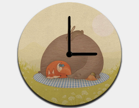 Naptime for All Clock by Alexandra Ball - Black / Black