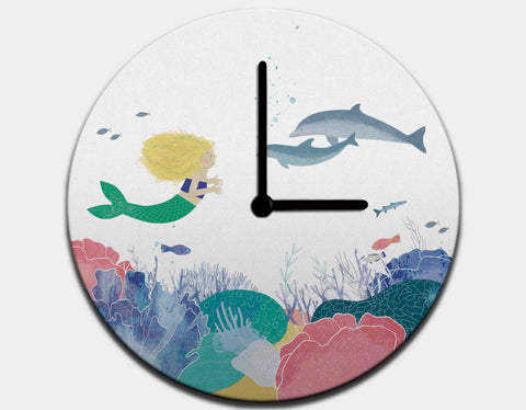 Making Friends Clock by Katie Rewse - Black / Black