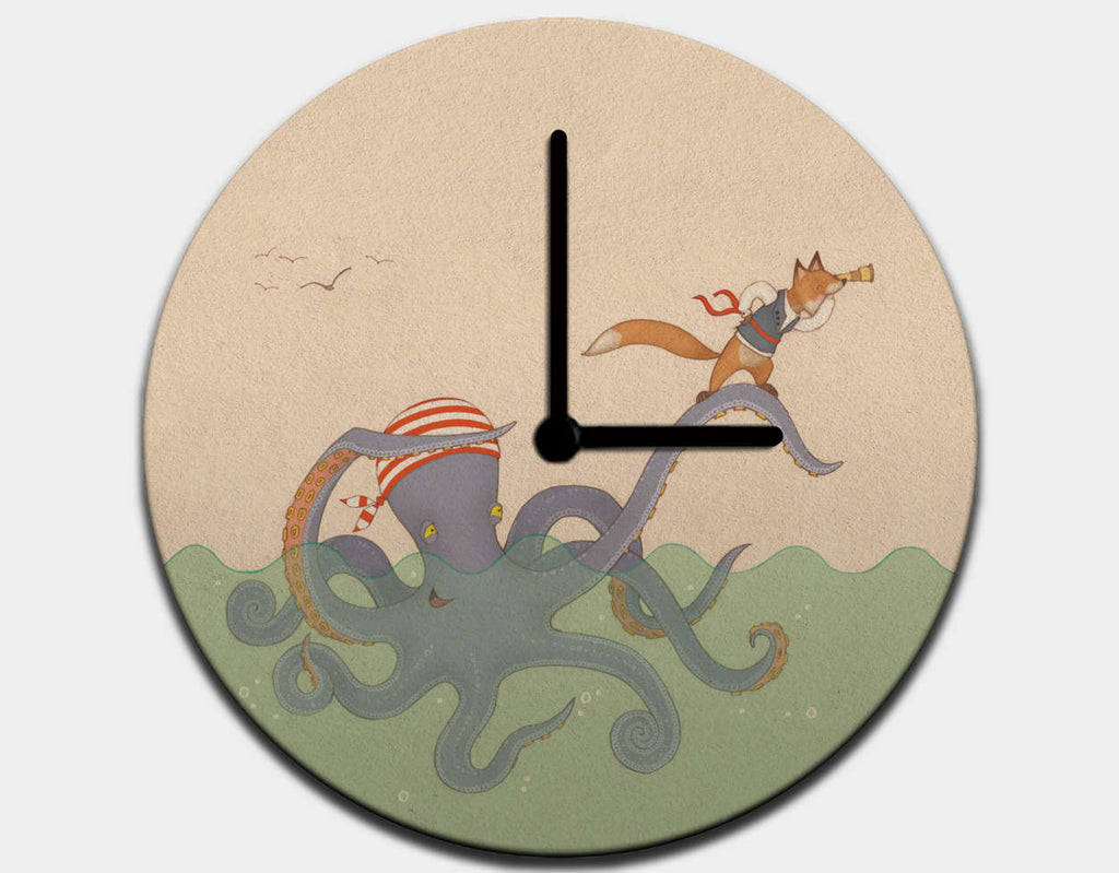 Best Pirate Themed Wall Clock For Childrens Bedroom