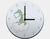 Dragon Painter Clock by Julie Parker - White / Black