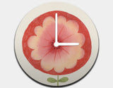 Red Flower Clock by Neesha Hudson - White / White