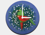 Birds of Paradise Clock by Jenny Reynish - White / White