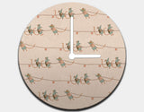 Heave Ho! Clock by Alexandra Ball - White / White