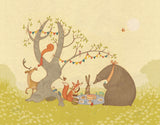 Picnic Under the Tree Canvas Print by Alexandra Ball - Design