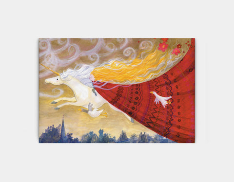 Flying Through the Evening Canvas Print by Rose Clayton - Large