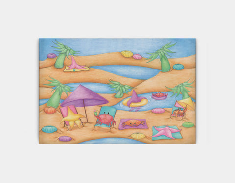 Lounging at the Tide Pool Party Canvas Print by Maura Stockton Wang - Large