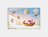 Balloon & Bathtime Ride Canvas Print by Patrick S Brooks - Large