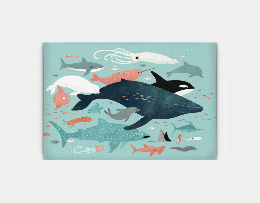 Under the Sea Menagerie Canvas Print by Emily Dove - Large