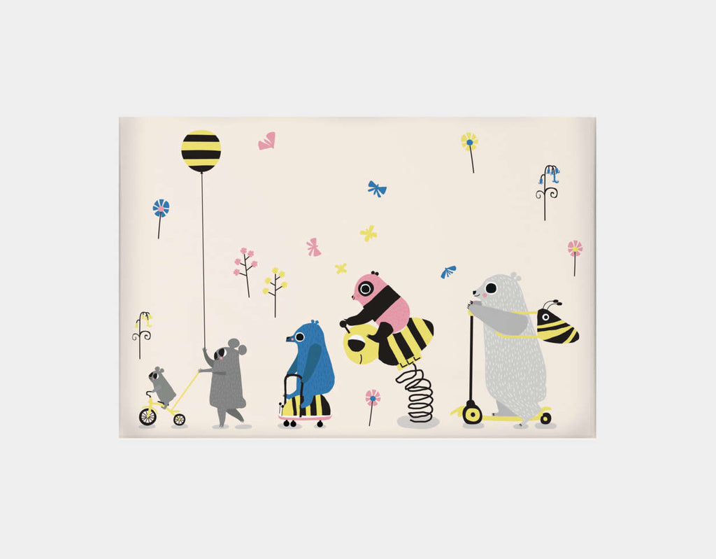 Happy Play Parade Canvas Print by Sue Downing - Large