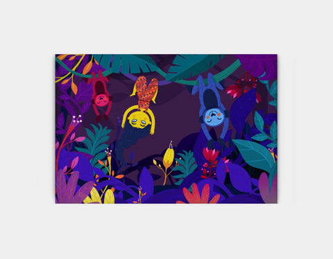 Nighttime Jungle Swing Canvas Print by Alexandra Petracchi - Large