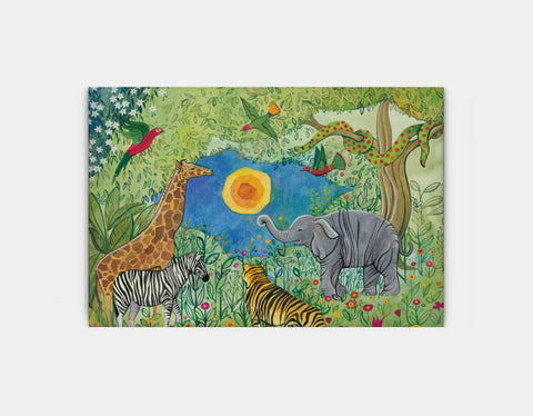 Jungle Gathering Canvas Print by Jenny Reynish - Large
