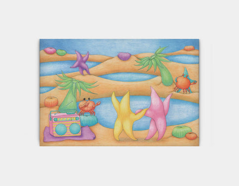 Dancing on the Beach Canvas Print by Maura Stockton Wang - Large