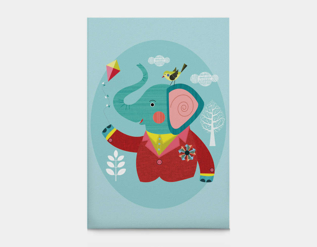 Enzo the Elephant Canvas Print by Ellen Giggenbach - Large