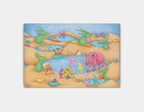 Tide Pool Party Canvas Print by Maura Stockton Wang - Large