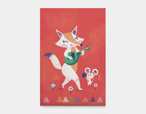 Fox & Mouse Canvas Print by Antoana Oreski - Large