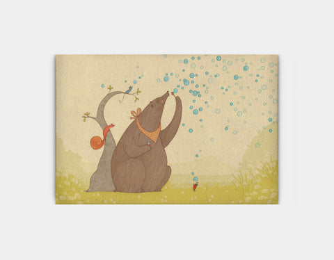 Bear's Bubbles Canvas Print by Alexandra Ball - Large