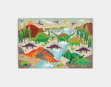 Dinoland Adventure Canvas Print by Liza Lewis - Large