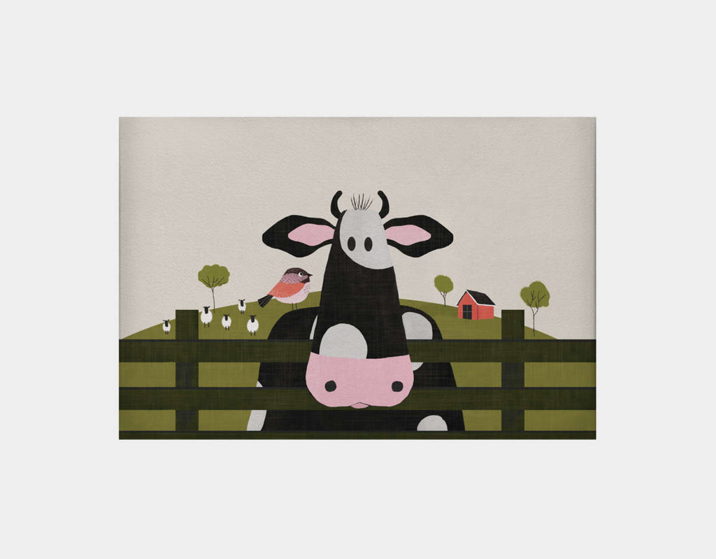 Caley the Cow Canvas Print by Mel Armstrong - Large