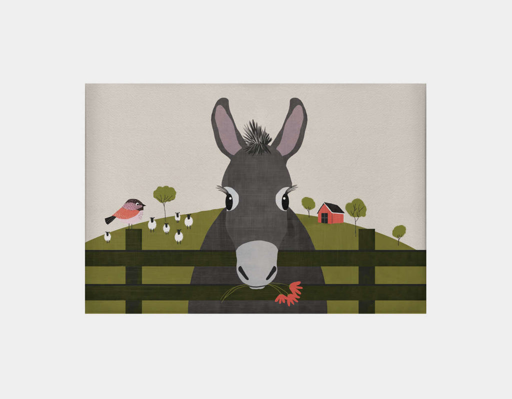 Dolores the Donkey Canvas Print by Mel Armstrong - Large