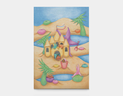 Sandcastle Star Canvas Print by Maura Stockton Wang - Large