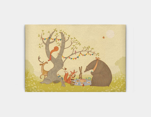Picnic Under the Tree Canvas Print by Alexandra Ball - Large