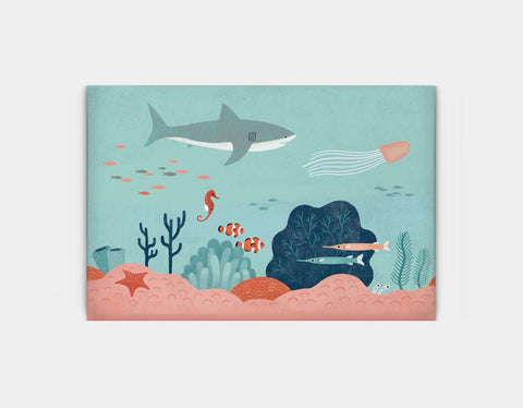Life in the Coral Reef Canvas Print by Emily Dove - Large
