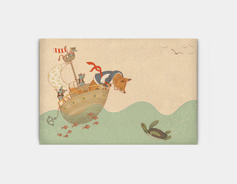 Ahoy There, Mr Turtle Canvas Print by Alexandra Ball - Large