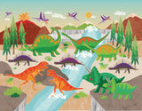 Dinoland Adventure Canvas Print by Liza Lewis - Design