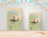 Surfing Pirate-Style Canvas Print by Alexandra Ball - Lifestyle