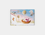 Balloon & Bathtime Ride Canvas Print by Patrick S Brooks - Medium