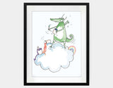 Artistic Dragon Framed Art by Julie Parker - Large / Black