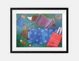 Sleeping Bag Sleepover Framed Art by Andrea Doss - Large / Black