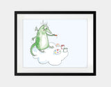 Dragon Painter Framed Art by Julie Parker - Large / Black