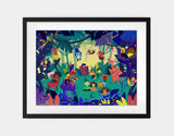 Jungle Celebration Framed Art by Alexandra Petracchi - Large / Black