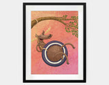 Tire Swingin' Framed Art by Julia Collard - Large / Black