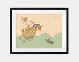 Ahoy There, Mr Turtle Framed Art by Alexandra Ball - Large / Black