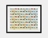 Construction Vehicles Framed Art by Brett Blumenthal - Large / Black