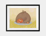 Naptime for All Framed Art by Alexandra Ball - Large / Black