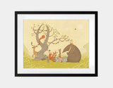Picnic Under the Tree Framed Art by Alexandra Ball - Large / Black
