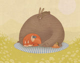 Naptime for All Framed Art by Alexandra Ball - Design